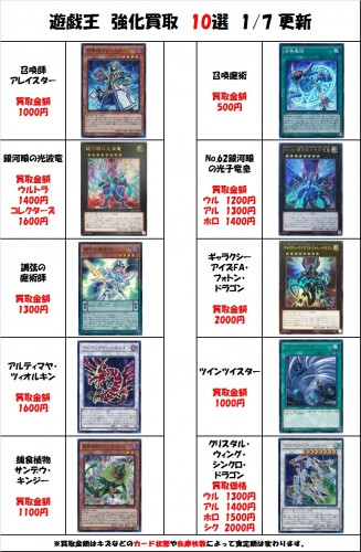 遊戯王10選