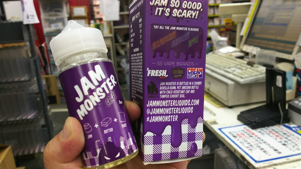 大人気朝食系リキッドの新作「JAM MONSTER GRAPE」 電子タバコ・VAPEリキッドレビュー