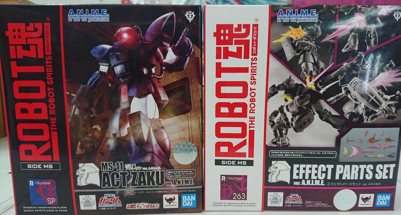 買取情報『バンダイのRobot魂 MS-11 ACT ZAKU ver.A.N.I.M.E』