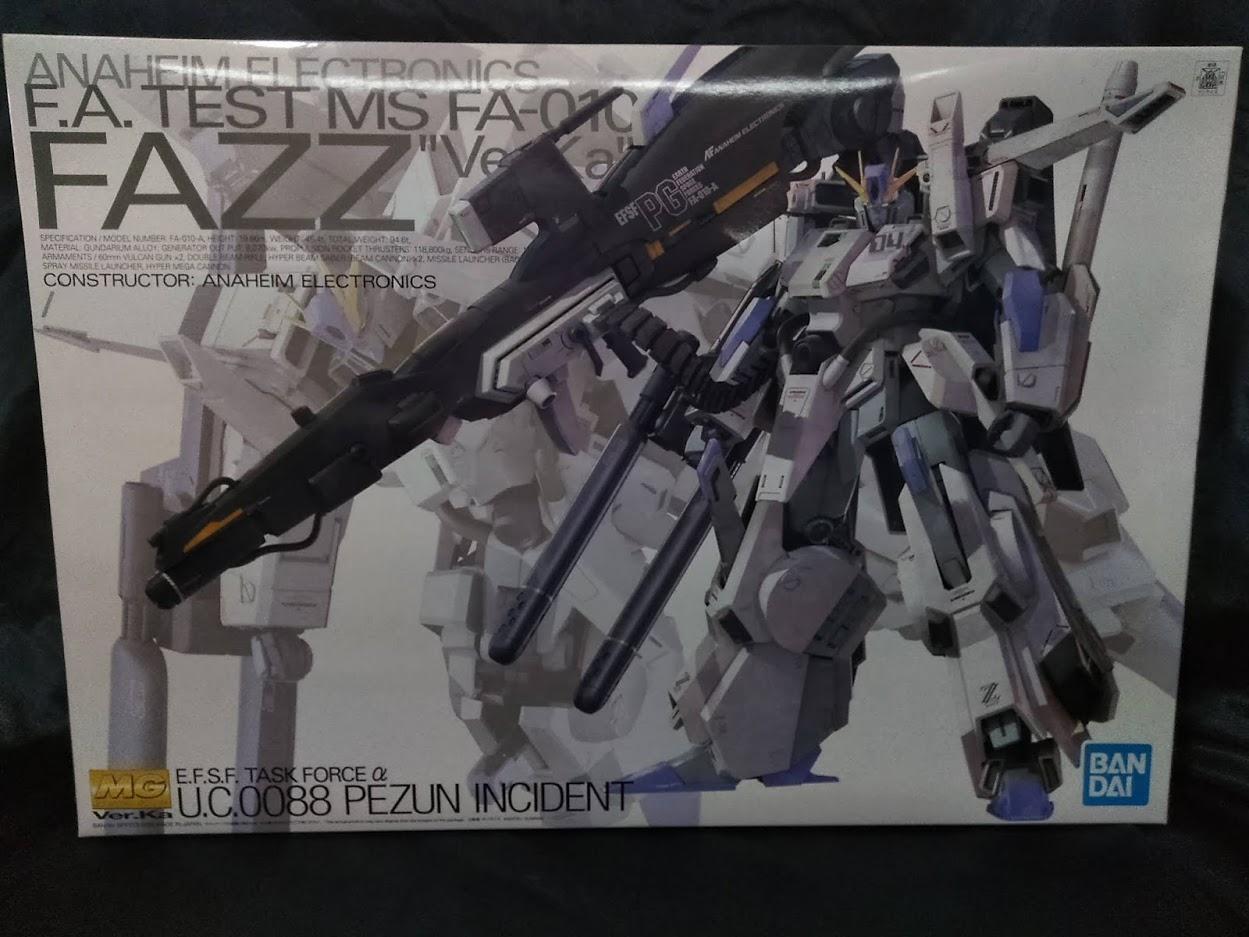 ゼスト所沢店の買取情報!!『バンダイのMG 1/100 FAZZ Ver.Ka 』